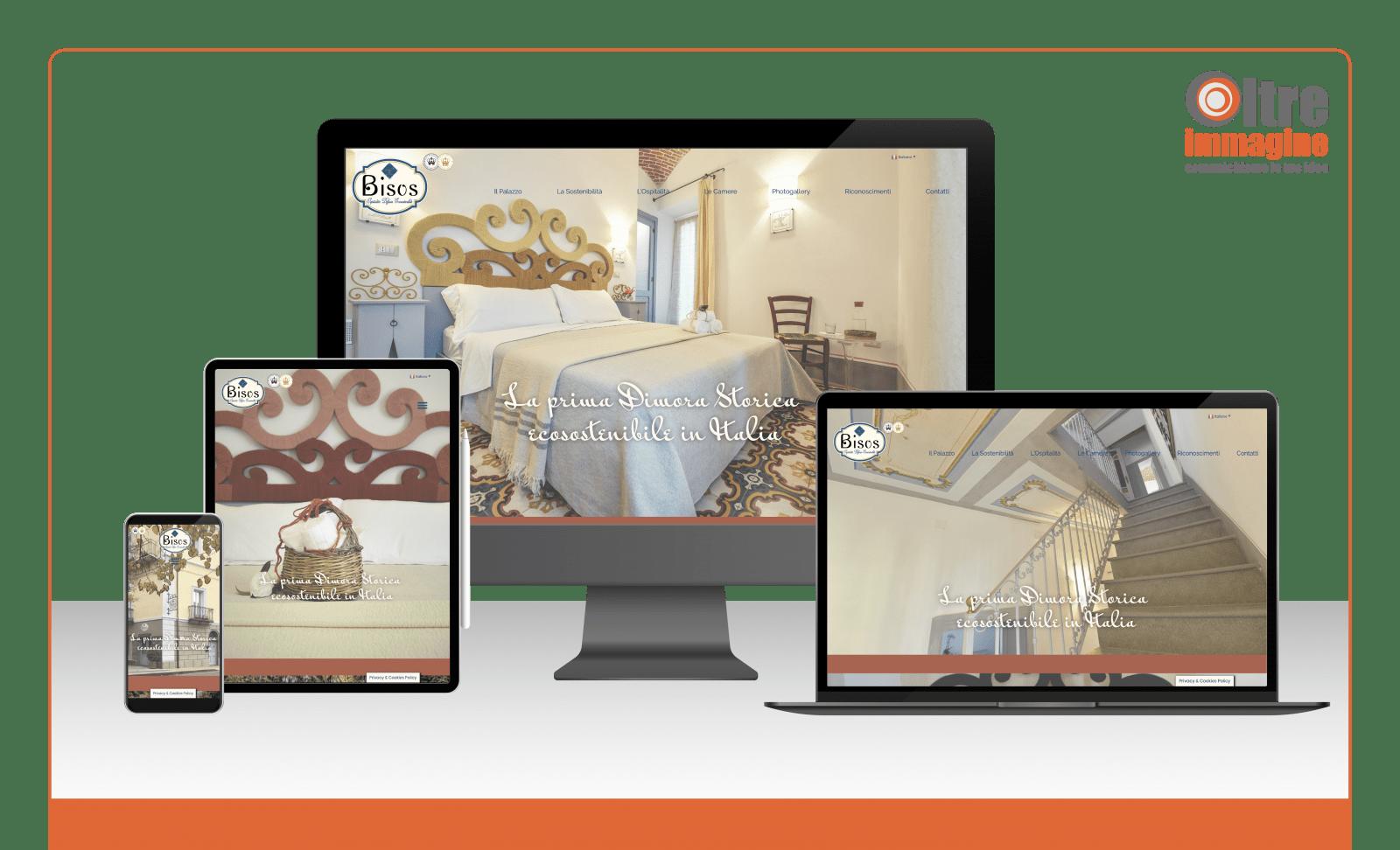 Bisos - Ospitalità Diffusa Ecosostenibile - realizzazione sito web responsive