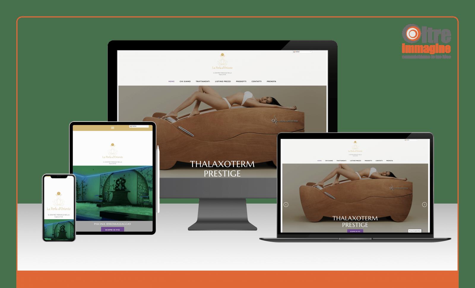 La Perla d'Oriente - realizzazione sito web responsive