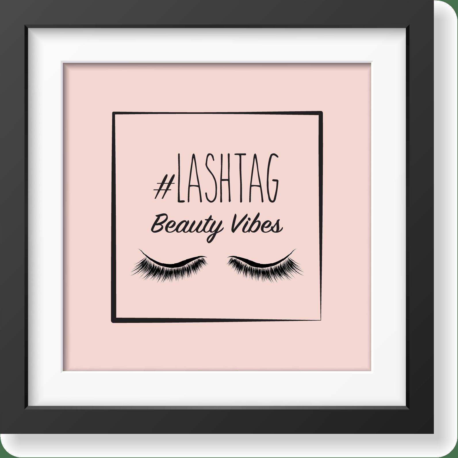 Lashtag - Beauty Vibes - studio e realizzazione logo e immagine coordinata