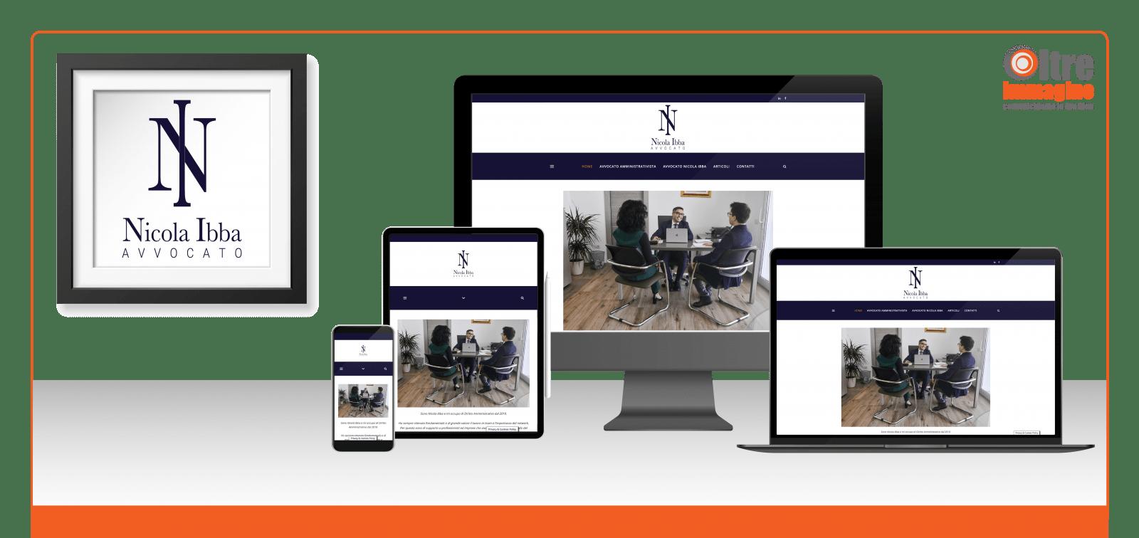 Avvocato Nicola Ibba - studio e realizzazione logo e sito web responsive