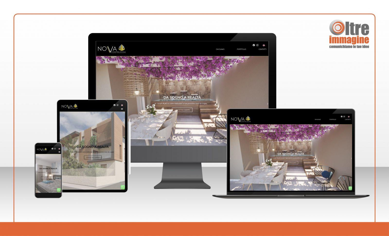 Nova Costruzioni SRL - realizzazione sito web responsive