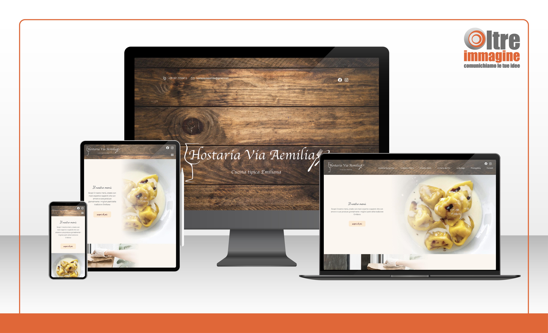 Hostaria Via Aemilia - Cucina tipica emiliana - realizzazione sito web responsive